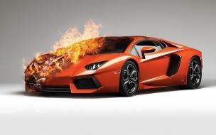 Fire Lamborghini
