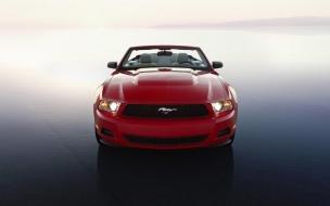Red Mustang Car