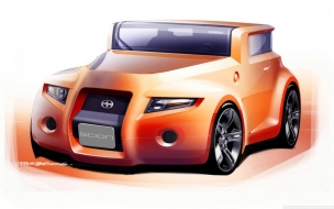Scion Hako Concept Sketch wallpaper
