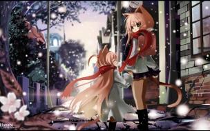 Cute Neko Schoolgirls on there way Home