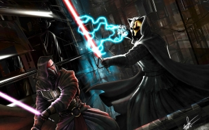Darth Nihilus Vs Darth Revan wallpaper