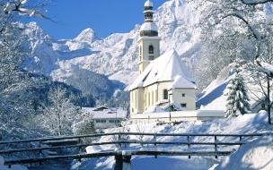 Iglesia paisaje Nevado