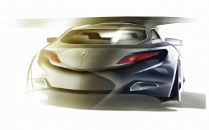 Mercedes Benz Sketch 1 wallpaper