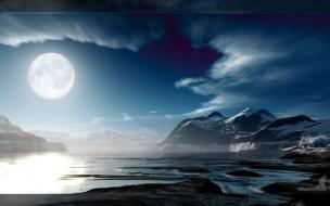 Paisaje luna llena