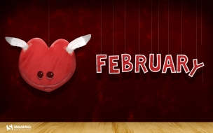 February month of love wide