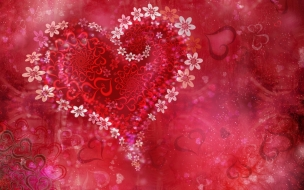 Love heart flowers HD