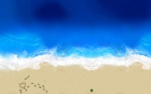 Love in beach wide