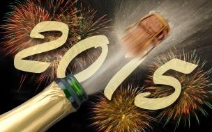 Feliz año 2015 con champagne