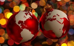 Esferas de navidad con diseno de Planeta
