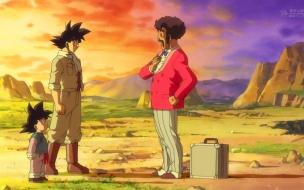 Dragon Ball Super Capitulo 1 Goku, Goten y Mister Satan