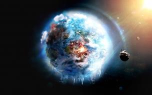 Fondo de pantalla de la Tierra en modo fantasia