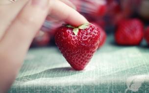 Fondo hd de fresa para los enamorados