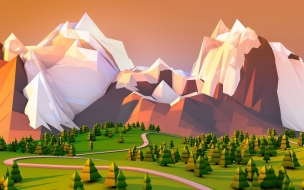 Fondo de pantalla de un paisaje