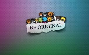 Fondo Be Original y Personajes