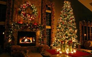 Fondo de pantalla hd 2016 navidad hogar arbol tarjetas