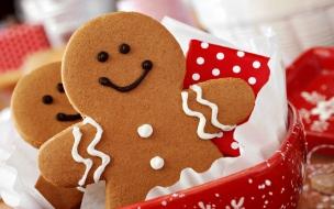 Galletita de navidad cookies navidena con adornos color rojo y blanco