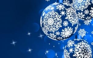 Adornos de navidad en color azul