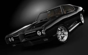 Pontiac GTO en color negro Coche Mitico