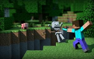 Fondo de Minecraft Lucha contra Esqueleto
