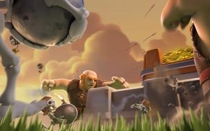 Gigante Y Esqueleto con Bomba en Clash Royale