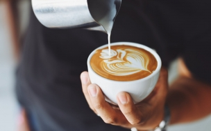 Cafe Dibujo Flor