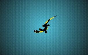 salamanquesa negra y amarilla