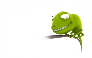 Fondo de pantalla iguana sonriendo