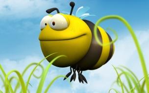 Fondo de pantalla abeja