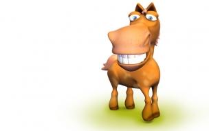 Fondo de pantalla burro sonriente
