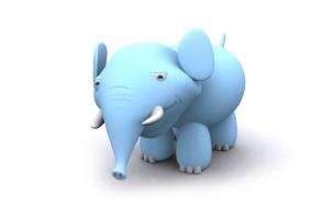 Fondo de pantalla tierno elefante