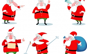 Fondos hd Cartoon Christmas Santa Claus