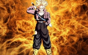 Trunks in fire