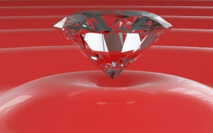 Diamond in red