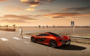 2014 McLaren P1 Orange wallpaper