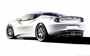Lotus Evora Sketch 2 wallpaper