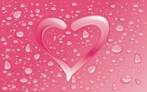 Pink Water Heart