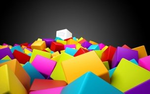 3d colorful squares