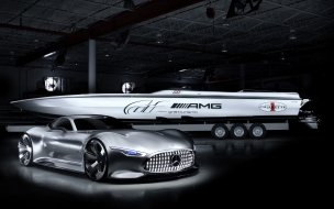 Mercedes benz amg cigarette racing vision gt concept