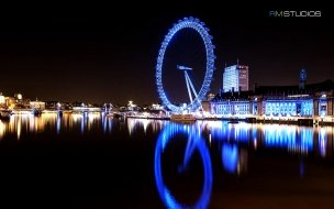 London eye river thames