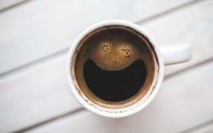 Coffee cup working happy