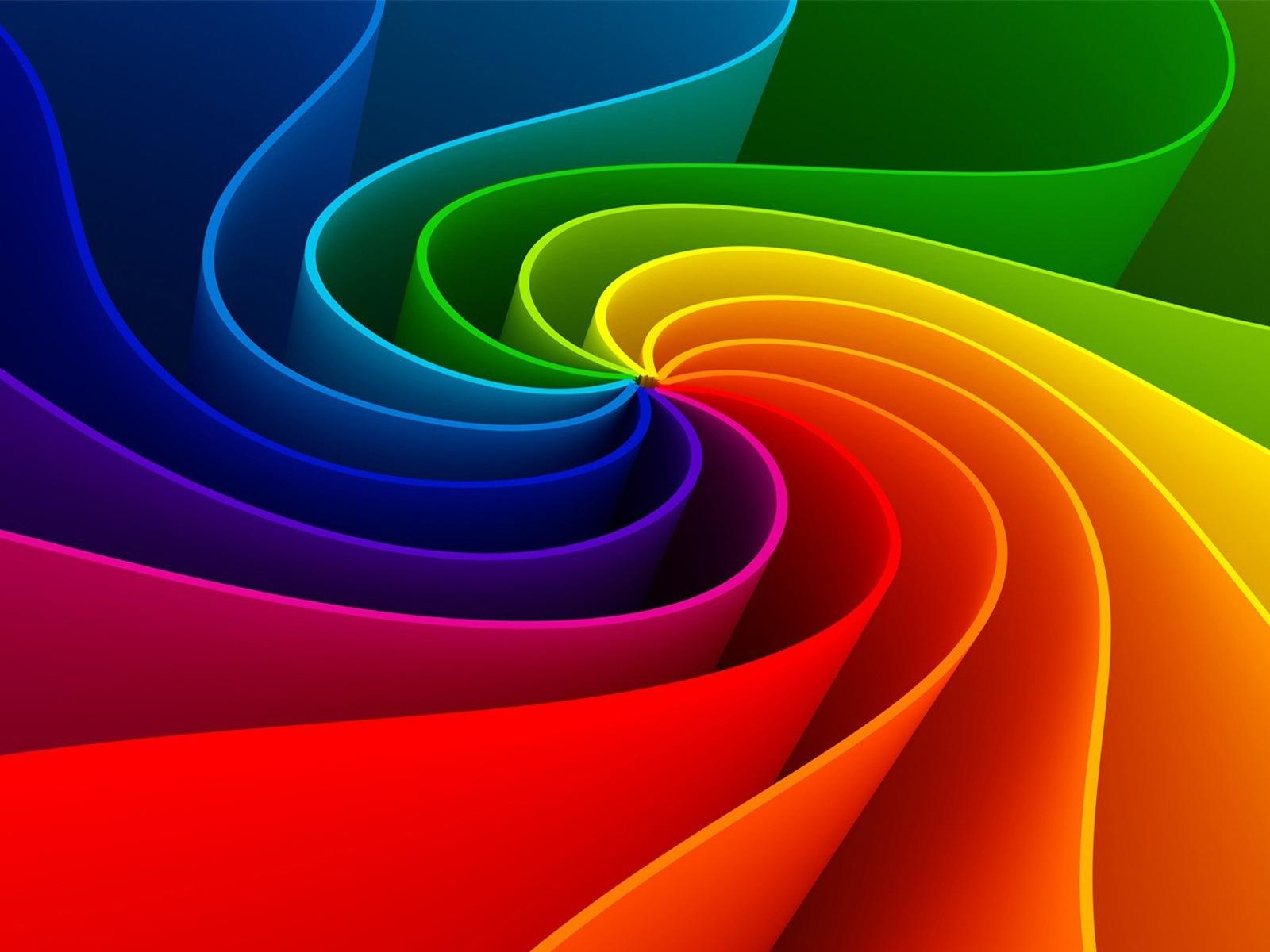 3D Abstract Rainbow 1600x1200 - Fondo de Pantalla #1773