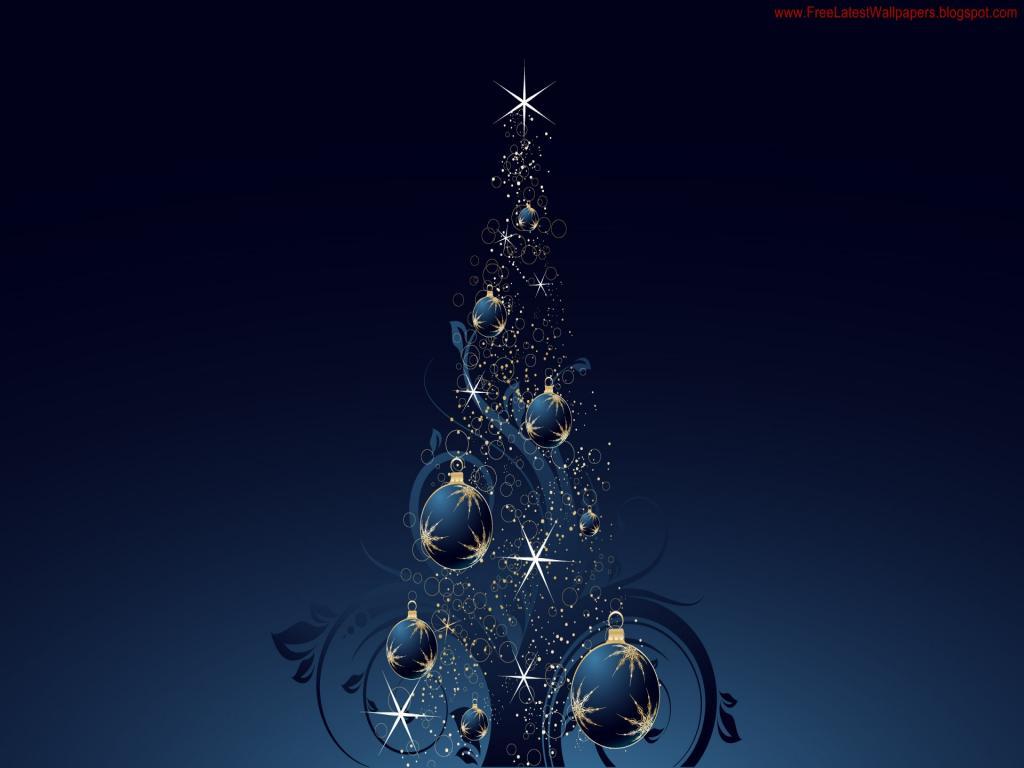 Arbol de navidad con fondo azul 1024x768 fondo de for Arbol navidad turquesa