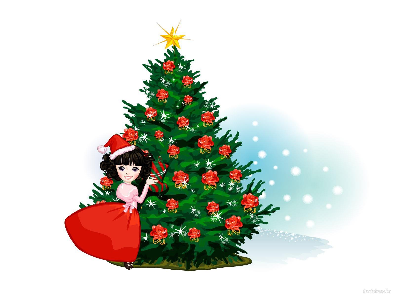 Caricatura de arbol navideno 1600x1200 fondo de pantalla - Fotos arboles navidad ...