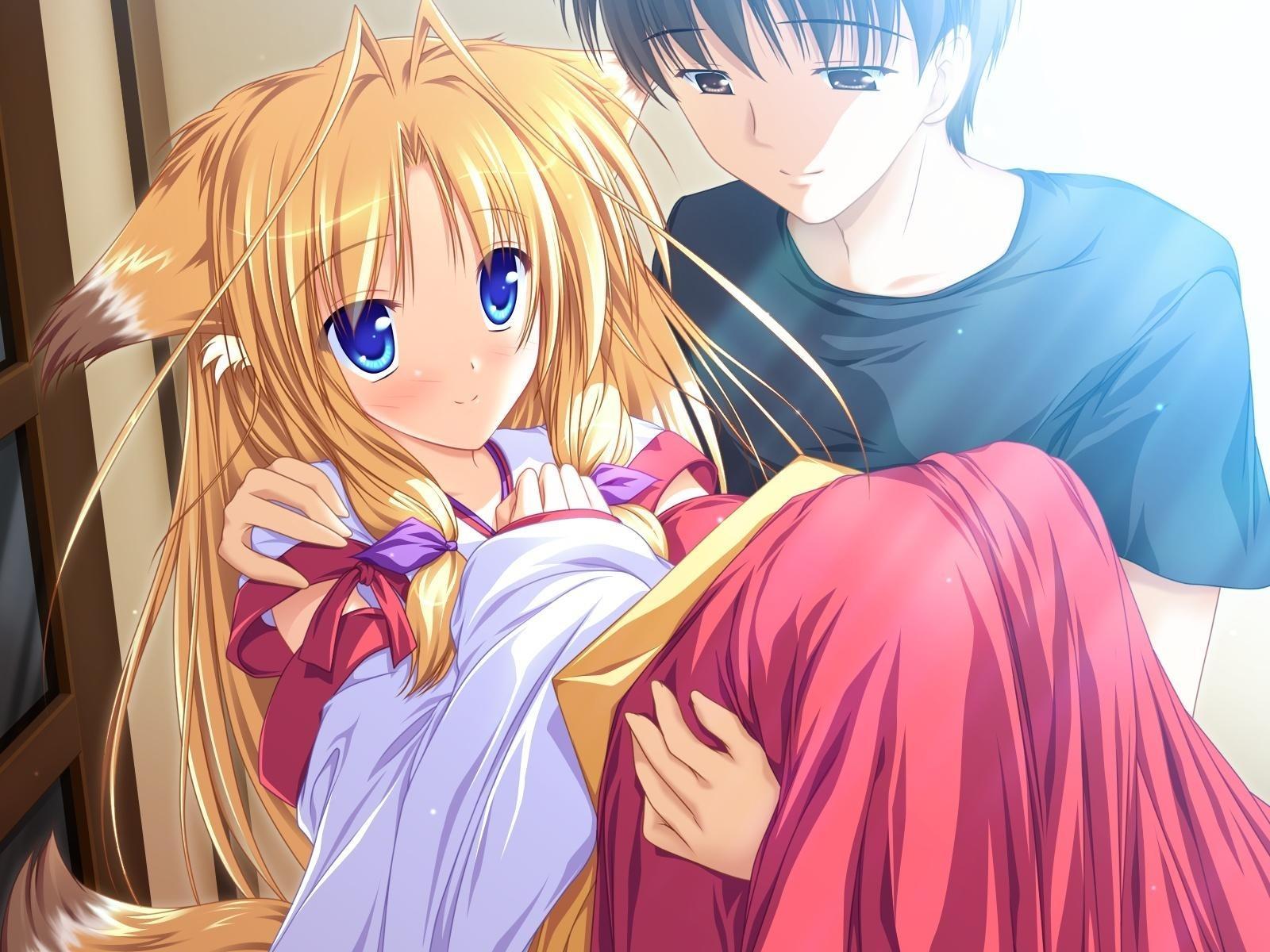 Cute anime couple 1600x1200 fondo de pantalla 2029 - Anime 1600x1200 ...
