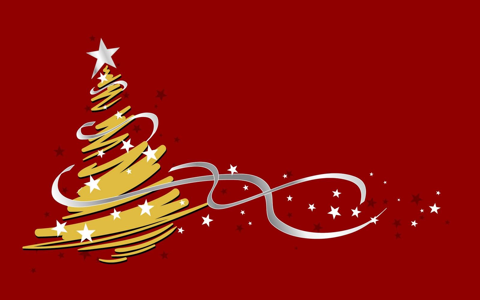 Fondo de pantalla rojo con arbol difuminado 1600x1000 - Imagenes arboles de navidad ...
