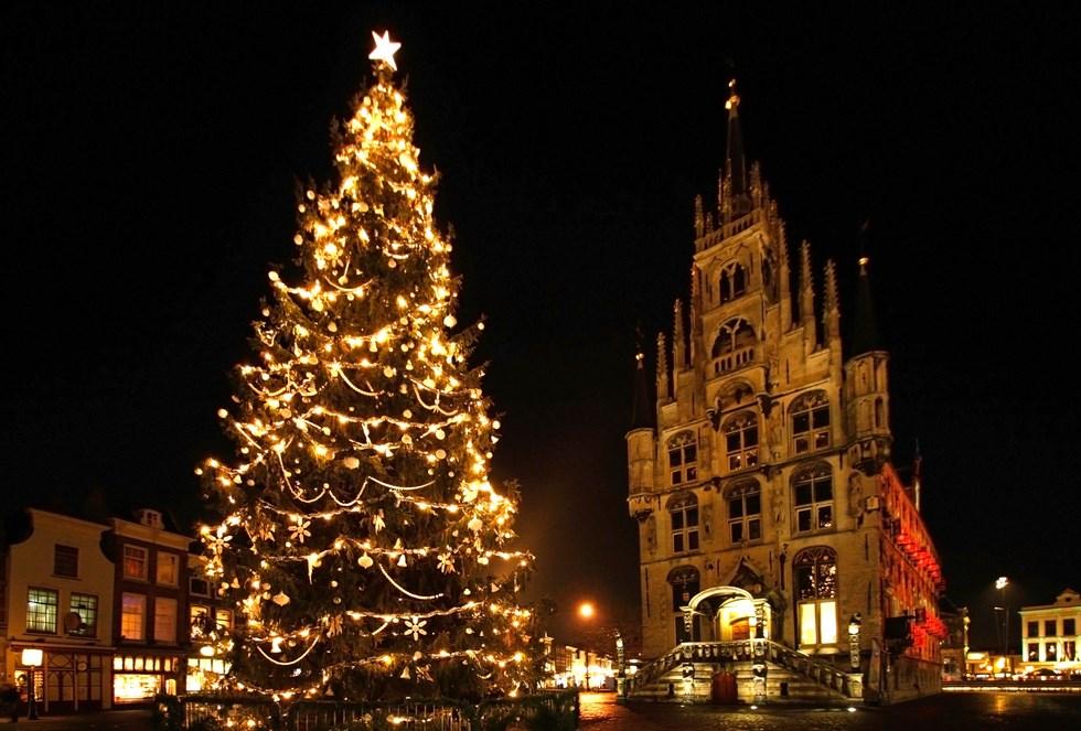 Fondos De Pantalla De Navidad: Fondos De Pantalla Arbol De Navidad En Gouda Holanda