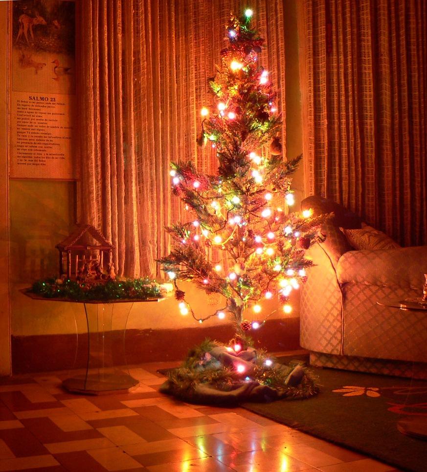 Fondos hd arbol peque o con luces grandes 873x965 fondo - Arbol navidad pequeno ...