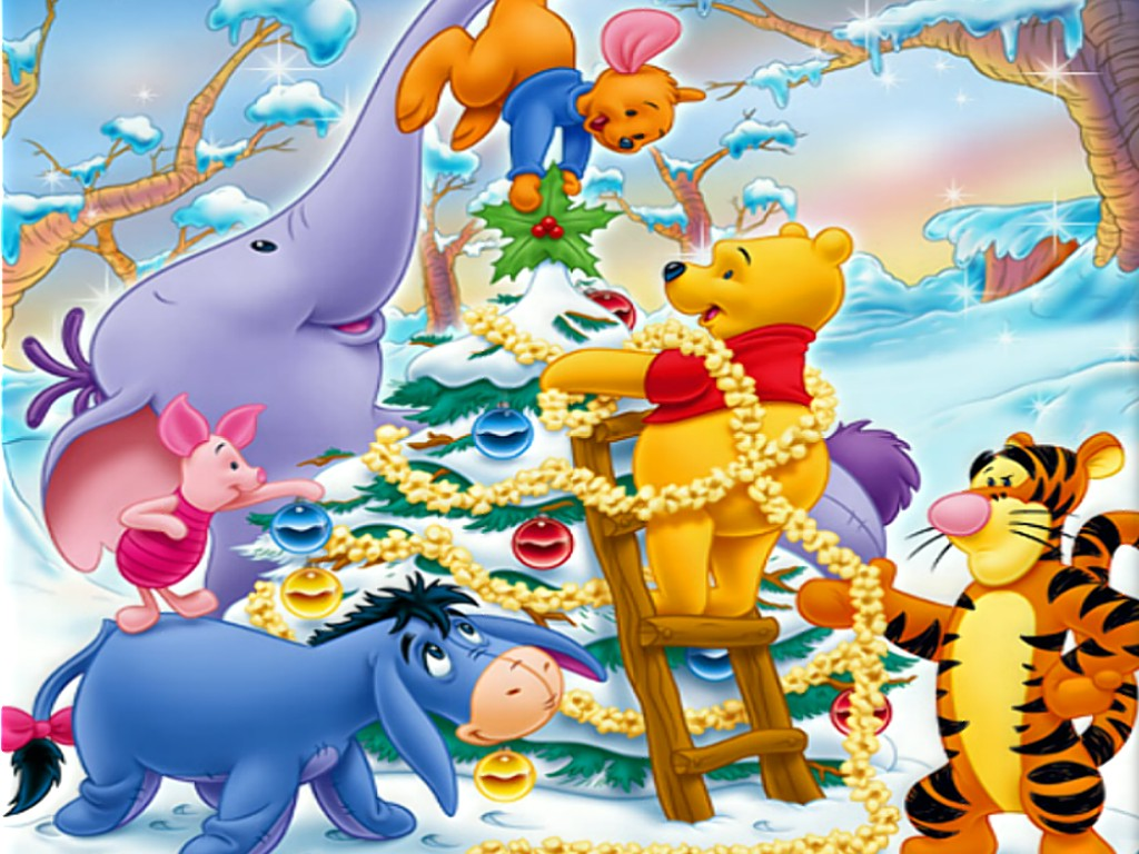 Fondos Hd Caricaturas De Navidad Winnie Pooh 1024x768
