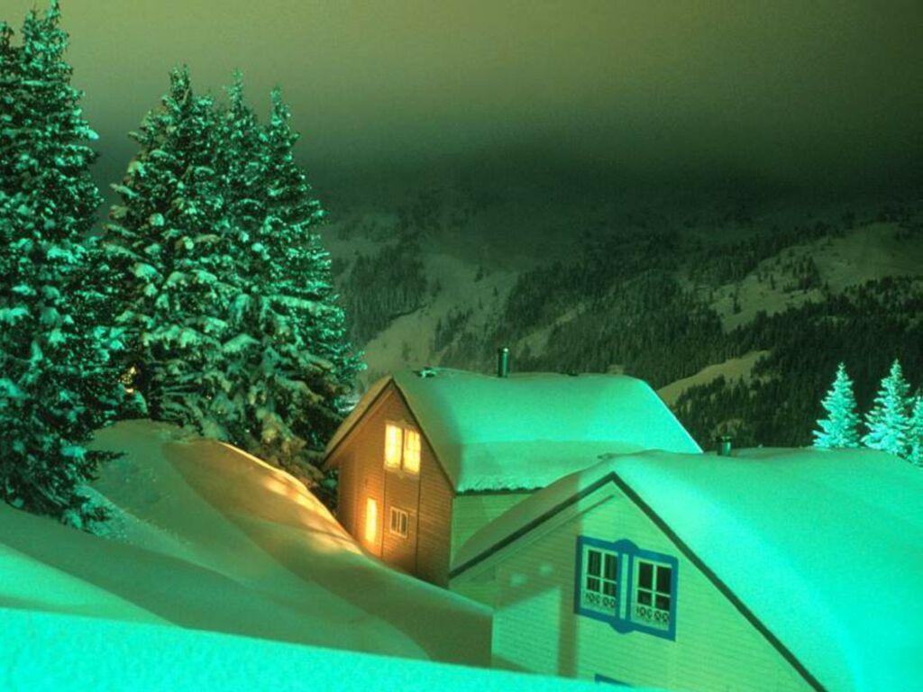 Montaña Nevada 1024x768: Fondos Hd Casas En Medio De Montañas Con Nieve 1024x768