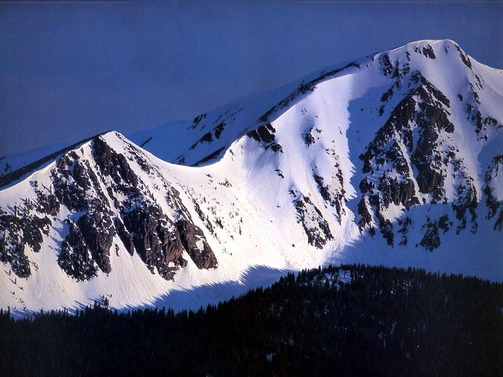 Montaña Nevada 1024x768: Montaña Con Nieve 1024x768
